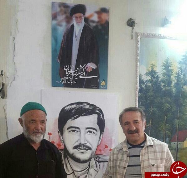 خانواده شهید مدافع حرم میزبان مهران رجبی شدند + عکس