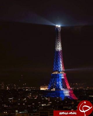 نورپردازی برج ایفل پس از راهیابی تیم فرانسه به دیدار نهایی+تصاویر