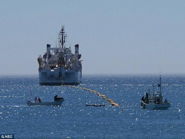 وصل شدن دوقاره به همدیگر از زیر اقیانوس توسط فیبر نوری+ تصاویر