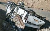 سانحه سقوط اتوبوس به دره در محور نیریز + فیلم و تصاویر و اسامی کشته شدگان