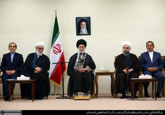 بیانات رهبر انقلاب در در دیدار رئیسجمهور و اعضای هیأت دولت