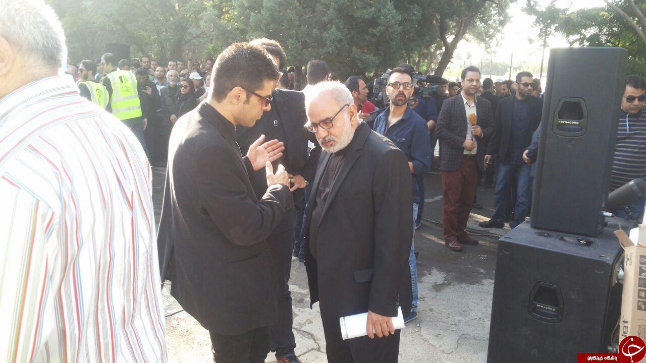 عباس کیارستمی به سوی «خانه دوست» بدرقه شد + فیلم و تصاویر