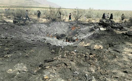 سقوط یک فروند جنگنده در فارس