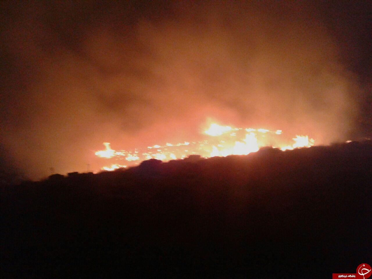 مهار دوحادثه آتش سوزی درمنطقه حفاظت شده کلیلاق زاوه