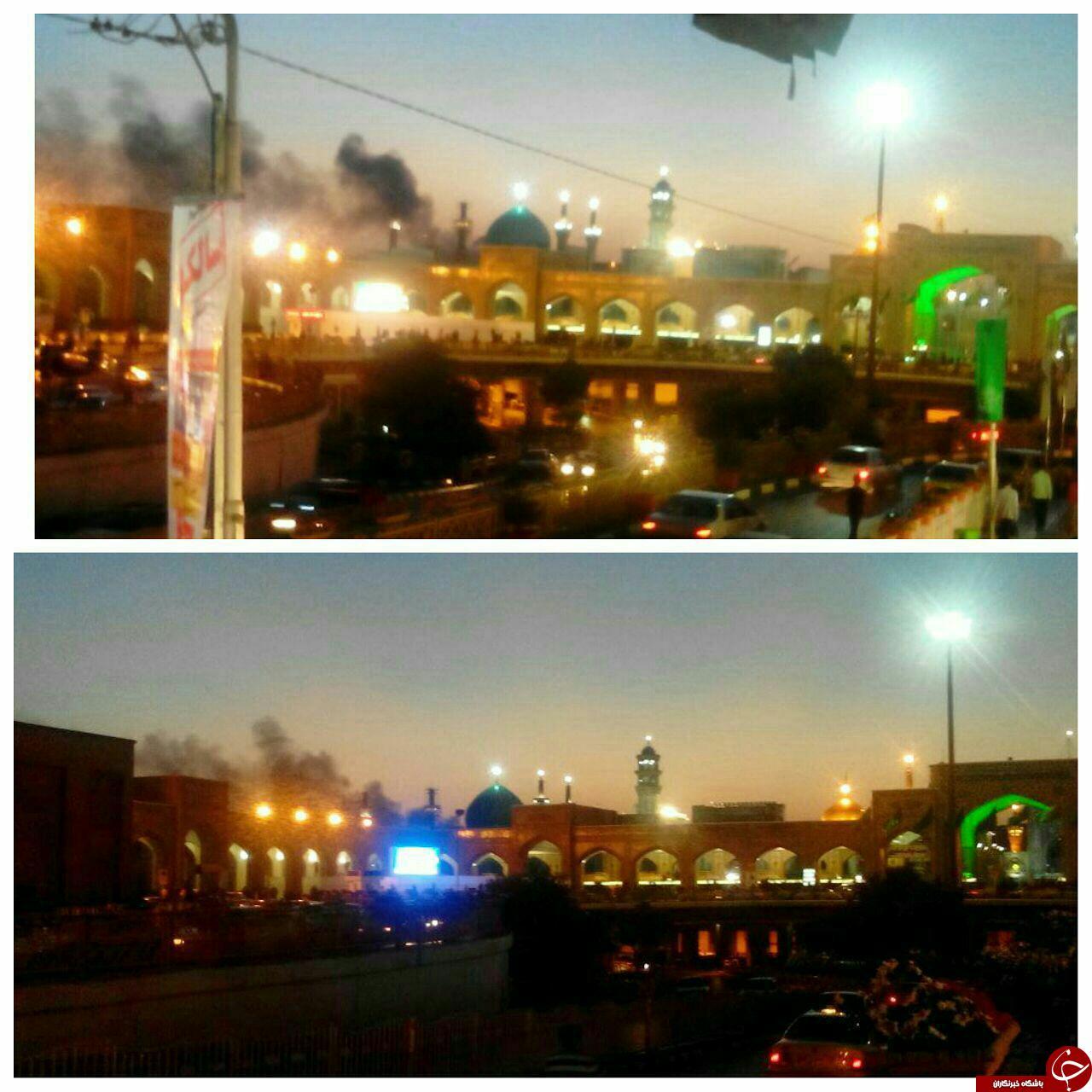 برج سلمان مشهد در آتش سوخت + تصاویر