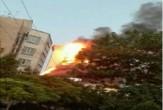 برج سلمان مشهد در آتش سوخت + فیلم و تصاویر