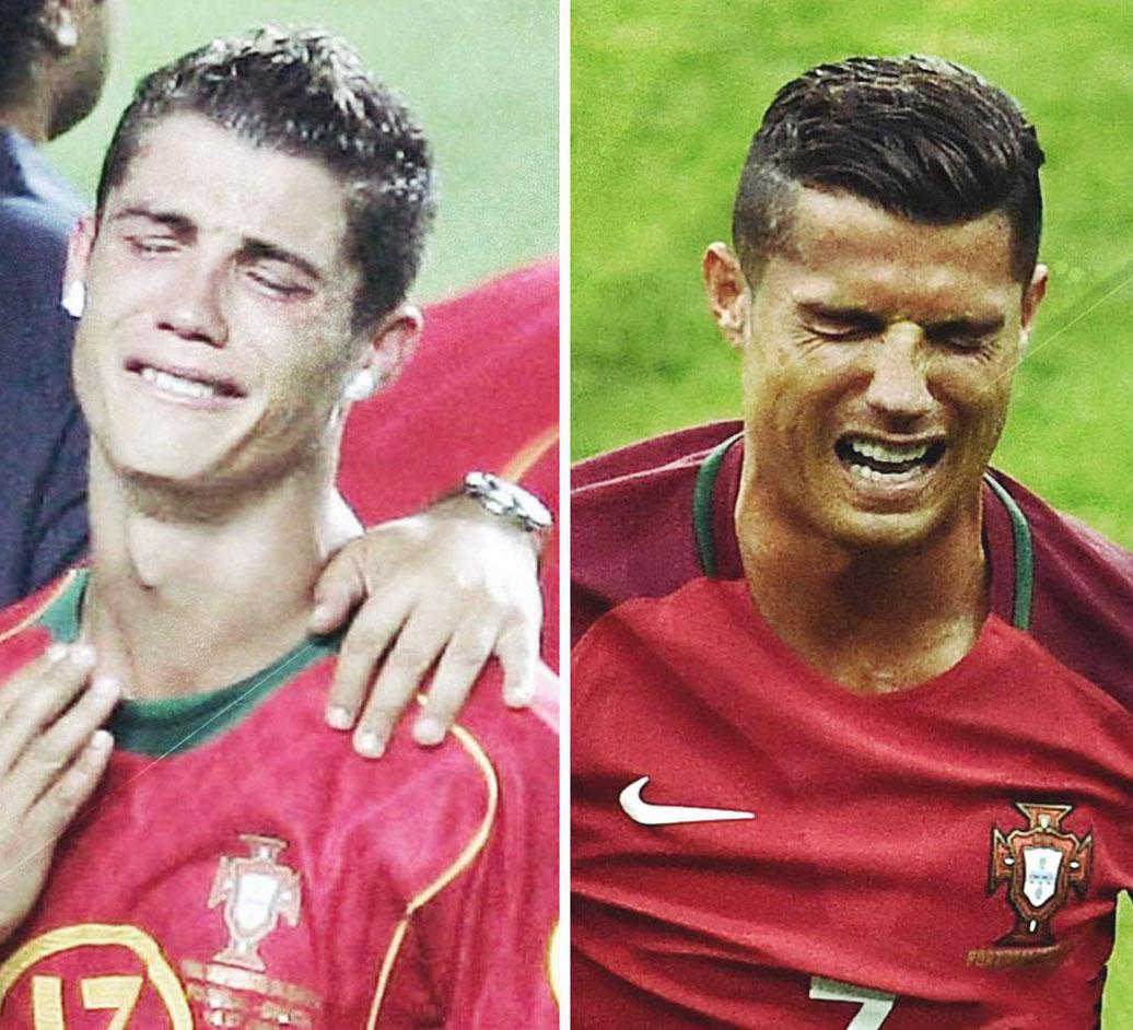 از جاری شدن اشک های رونالدو تا حضور کی روش در ورزشگاه + فیلم و تصاویر