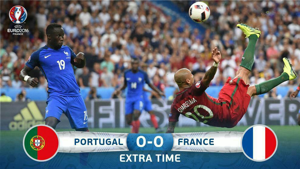 قهرمان یورو در وقت اضافه مشخص می شود/ رونالدو فینال یورو را از دست داد + فیلم و گزارش تصویری