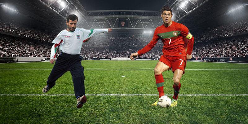 مقایسۀ احمدینژاد با کریس رونالدو+تصویر