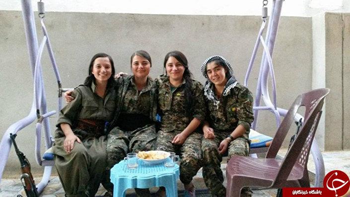 دختران جنگجوی ایزدی در صفوف مبارزه با داعش+تصاویر