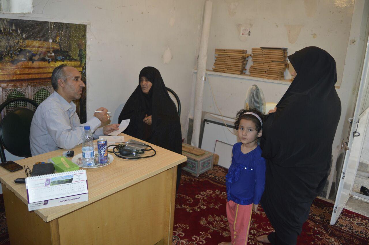 طرح ویزیت رایگان مهاجران افغانستانی در موسسه خیریه علمدار کربلا