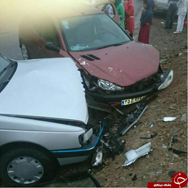 چهارمین تصادف امروز در جاده ساری ، کیاسر + تصاویر