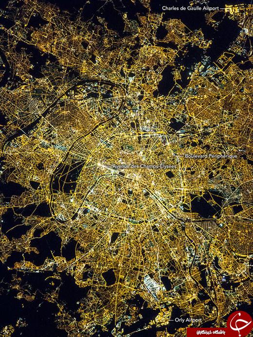 پاریس را از فضا ببینید +عکس
