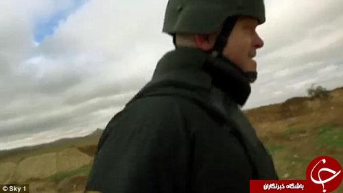 شلیک مستقیم داعش به سمت خبرنگار انگلیسی+ تصاویر