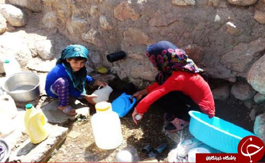 قطعی آب در روستاهای لرستان به روایت تصویر