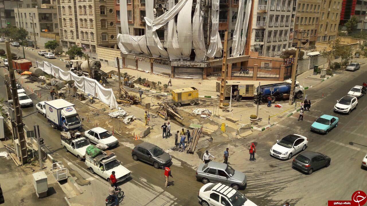 باز هم حادثه در شهران/ محل انفجار ریزش کرد +تصاویر