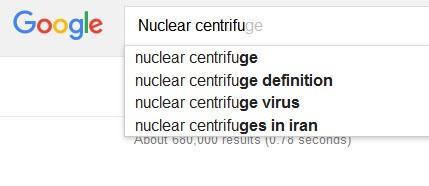 سانتریفیوژ جزییات توافق هسته ای پشت پرده گوگل برجام آمار کلمات گوگل Nuclear centrifuges