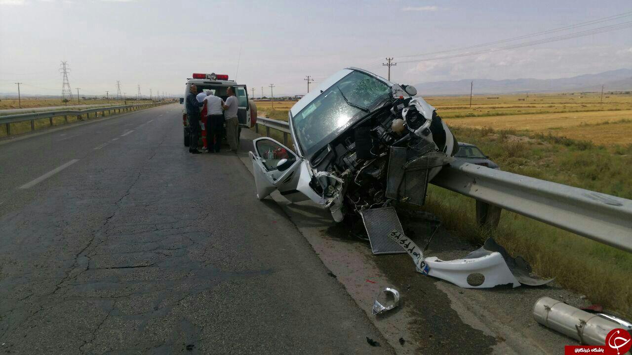 دو حادثه رانندگی در محور قوچان به مشهد +تصویر