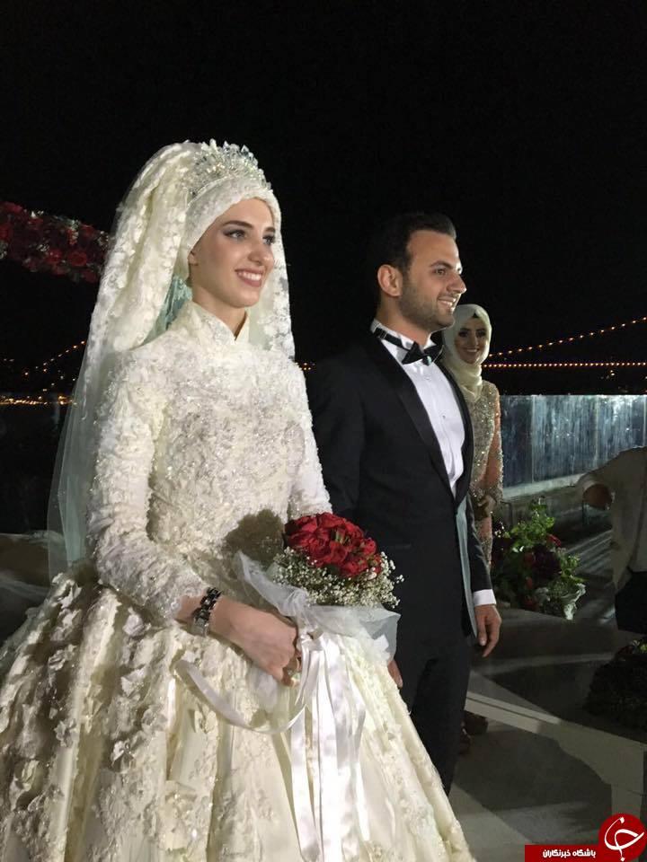 ازدواج پسر مشاور اردوغان با نوه رئیس جمهور سابق سوریه/ اعطای 1500 روادید برای نزدیکان عروس+تصاویر