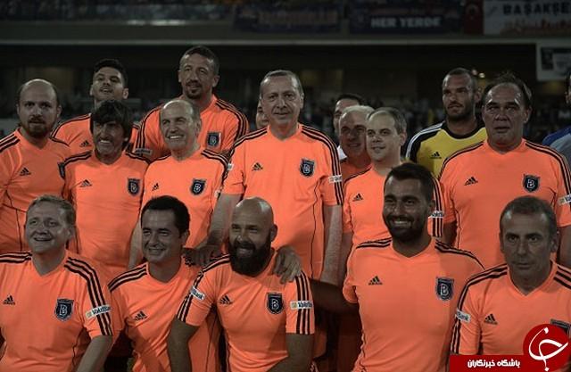 عکسهایی از فوتبال بازی کردن اردوغان!