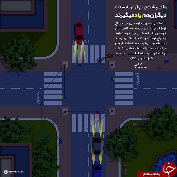 توصیه مقام معظم رهبری به رانندگان + عکس