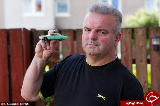 مردی که به خاطر یک ماشین اسباب بازی دستگیر شد +تصاویر