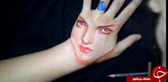 خطای دید با نقاشی روی دست +تصاویر
