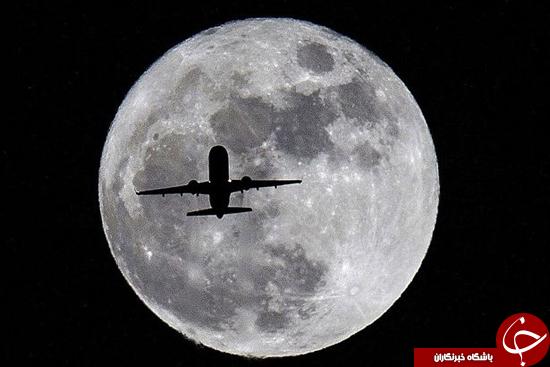 تصاویر زیبا از ماه و هواپیماها
