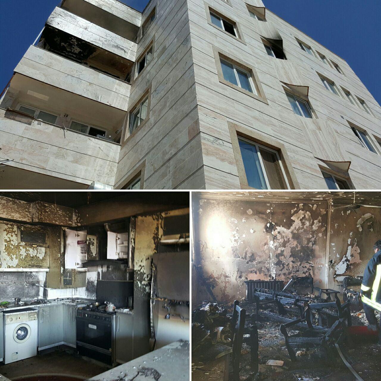نجات 12 نفر از میان شعله های آتش + عکس