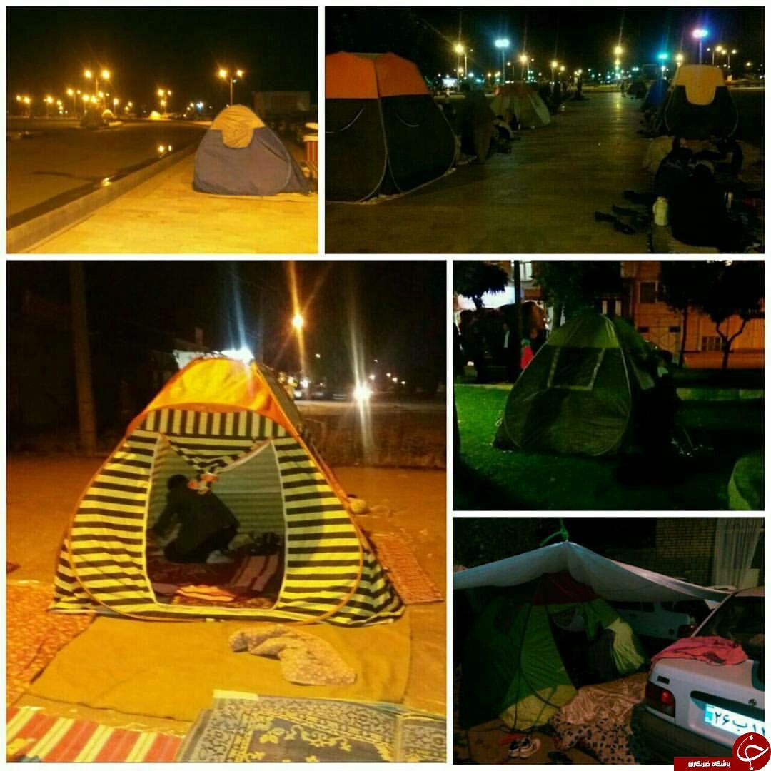 آذربایجان غربی در ١٠ ساعت ٢٩ بار لرزید/ برپایی چادر و اسکان در پارکها و فضاهای باز + تصاویر