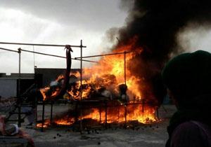 مراسم امحاء مواد مخدر در سنندج + تصاویر