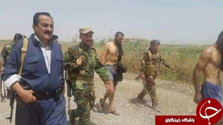 تسلیم شدن داعشی های عریان در موصل+تصاویر
