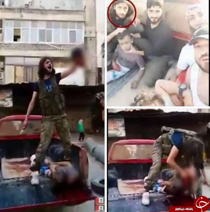 جنایت هولناک ارتش آزاد سوریه در سر بریدن یک کودک فلسطینی+تصاویر و فیلم