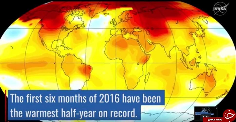 شش ماه اول سال 2016 رکورددار گرما در 136 سال گذشته