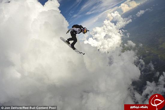 چترباز شجاع به دل طوفان زد +تصاویر