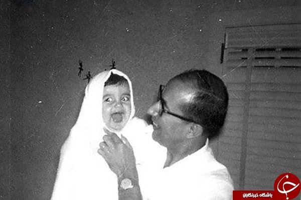 شهید چمران و فرزندش در آمریکا + تصویر