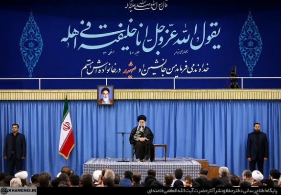 بیانات رهبر انقلاب در دیدار خانوادههای شهدای هفتم تیر، مدافعان حرم و فاطمیون
