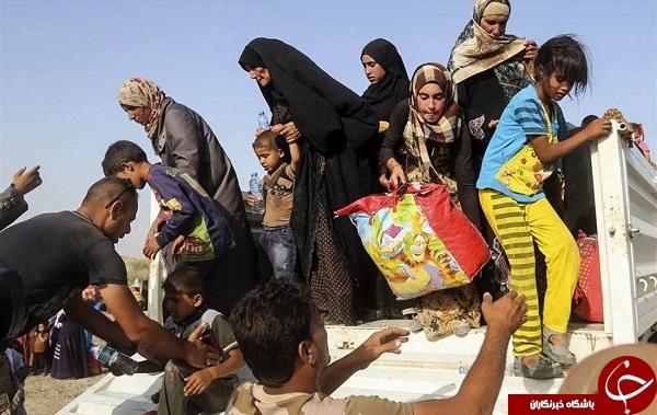 فرار عراقی از دست تروریست های داعش + فیلم و عکس
