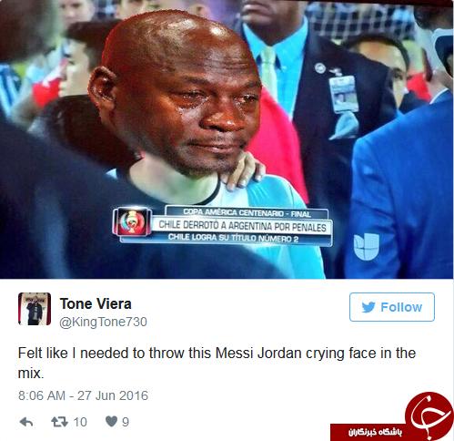 اشکهای مسی توییتر را فرا گرفت