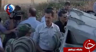 بشار اسد در میدان نبرد با تروریستهای داعش+ تصاویر