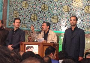 روضه خوانی امروز احمدی نژاد در مسجد جامع نارمک + صوت و فیلم