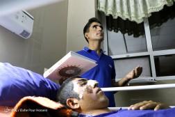 باشگاه خبرنگاران - مراسم احیای شب بیست و یکم ماه رمضان بر بالین مصدومان سانحه تصادف اتوبوس سربازان در شیراز
