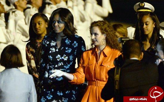 استقبال همسر پادشاه مراکش از میشل اوباما و دختران رئیس جمهور آمریکا+ تصاویر