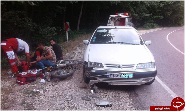دو تصادف بدون فوتی در غرب وشرق مازندران+تصویر
