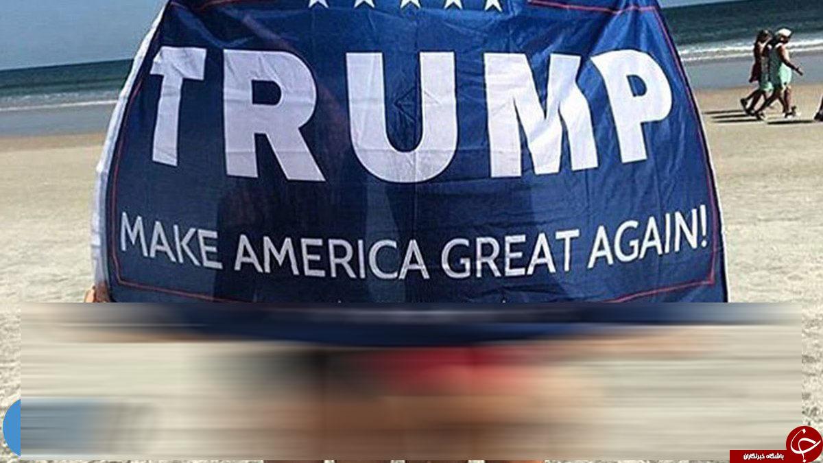 مخالفان: یک عکس عریان، جایزه رای ندادن به ترامپ/ موافقان: انتشار تصاویر عریان برای حمایت از ترامپ+تصاویر