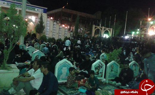 شب قدر در مهدیه صاحب الزمان و گلزار شهدای کرمان+ تصاویر