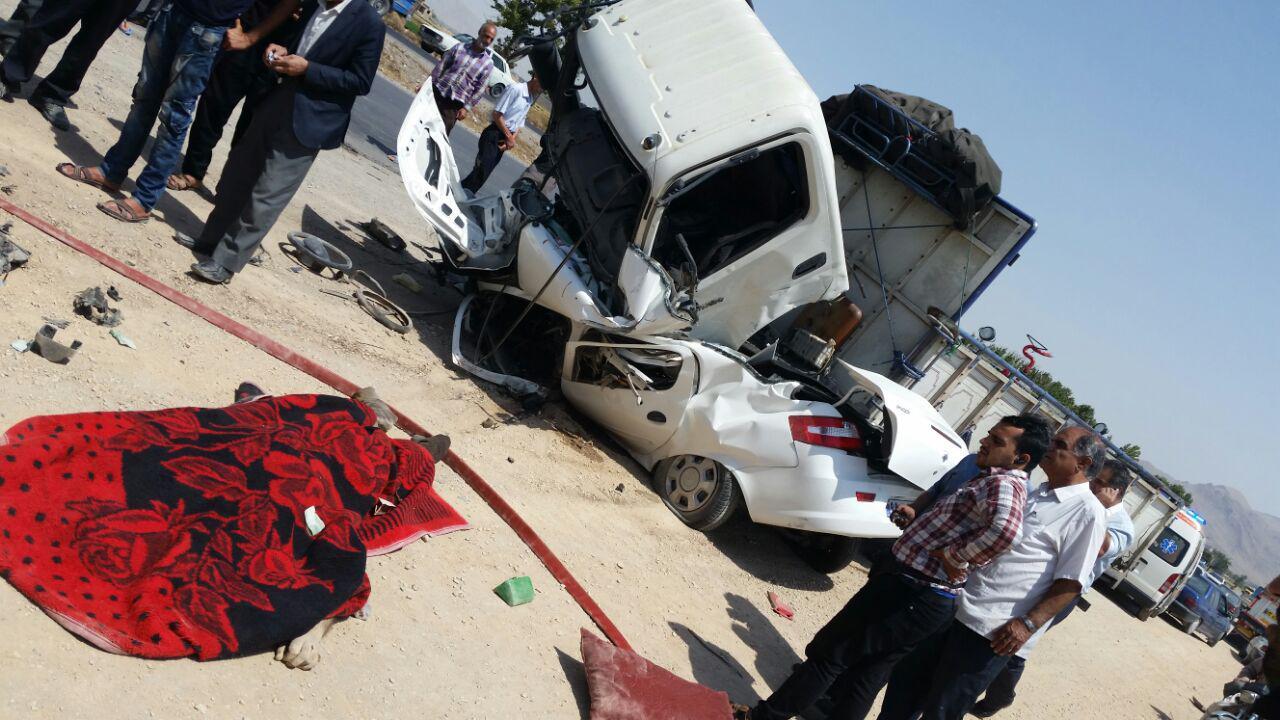 تصادف ایسوز یک کشته برجای گذاشت+ تصاویر