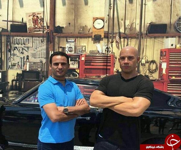 آرش برهانی در کنار بازیگر خشن هالیوود + تصویر