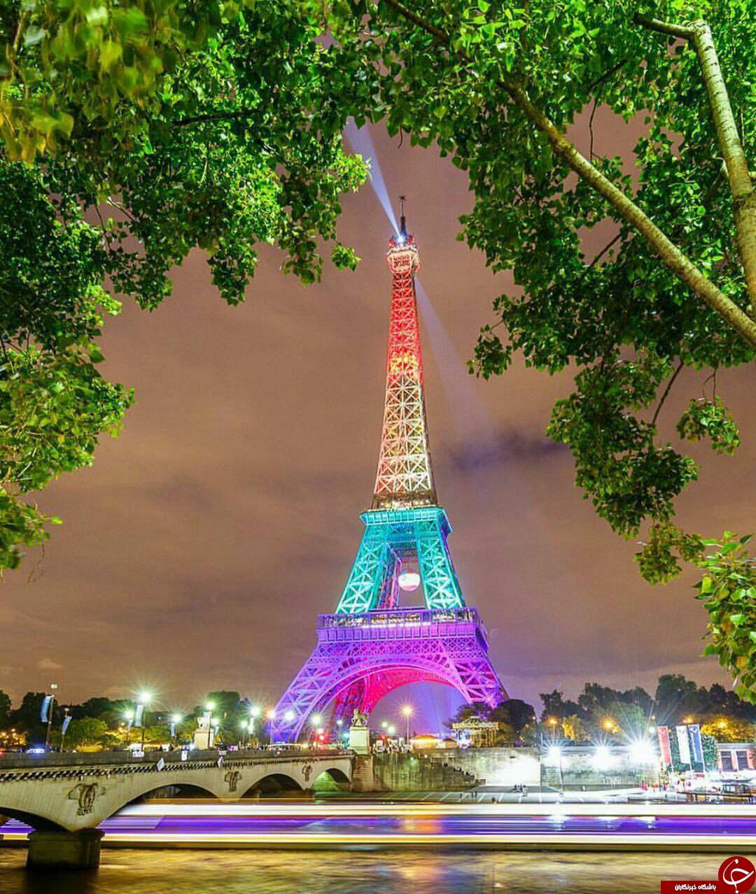 نورپردازی خیره کننده برج ایفل+ عکس