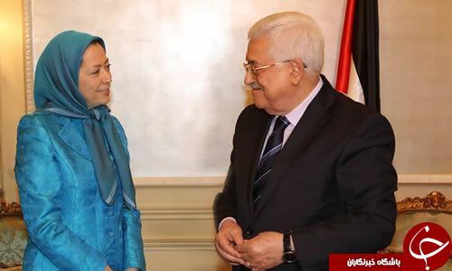 دیدار سرکرده گروهک منافقین با محمود عباس در پاریس/ مقاله ضد ایرانی رجوی در روزنامه سعودی الریاض